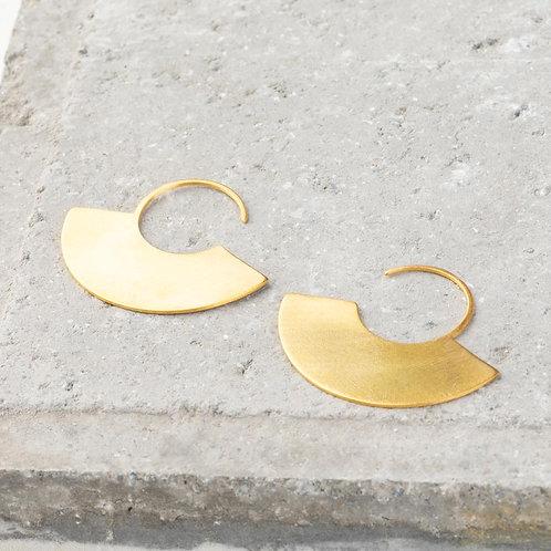 Ornato   Gold Flat Hoops