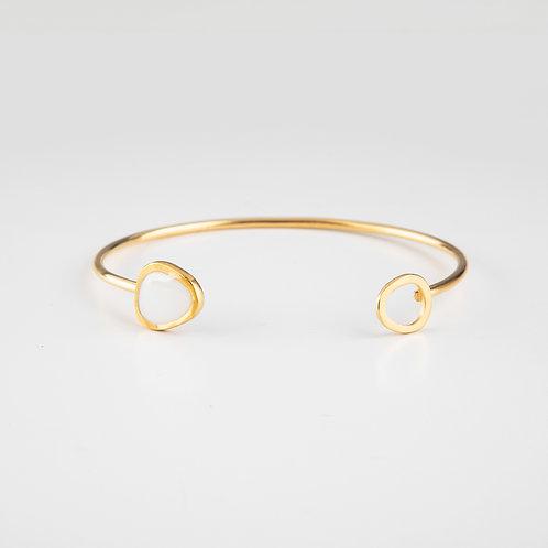Ornato | Gold and Enamel Cuff Bangle
