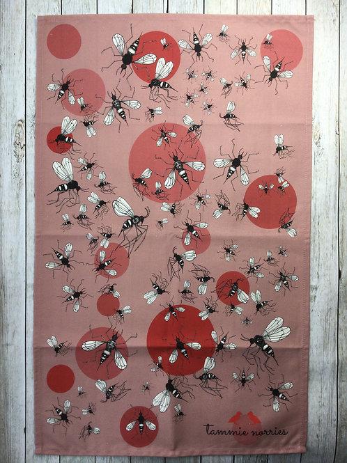 Tammie Norries   'Rabble of Bees' tea towel sample
