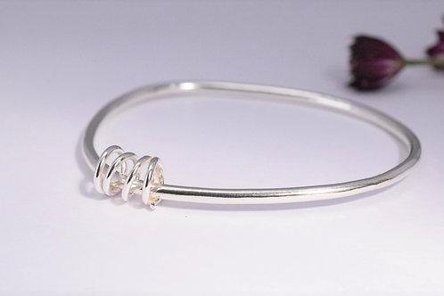 Ana Herranz Jewellery | Silver coil bangle