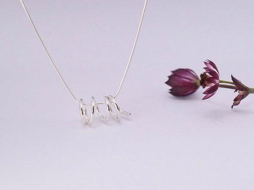 Ana Herranz Jewellery   Silver coil Necklace