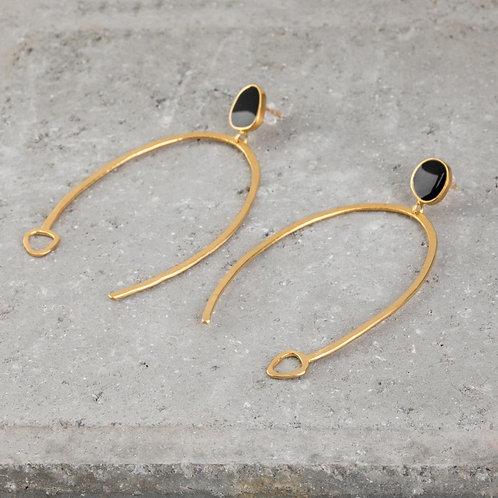 Ornato | Large U Shaped Dangle Earrings