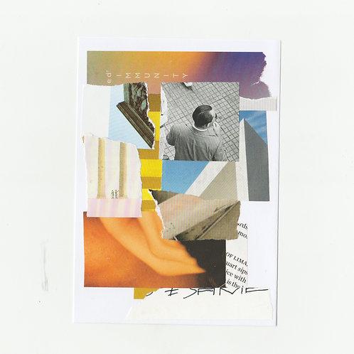 Hi It's NY   Original A6 postcard collage