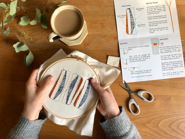 FORM Modern Embroidery Workshop with Paper Houses Design