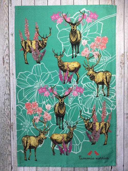 Tammie Norries   Deer tea towel sample