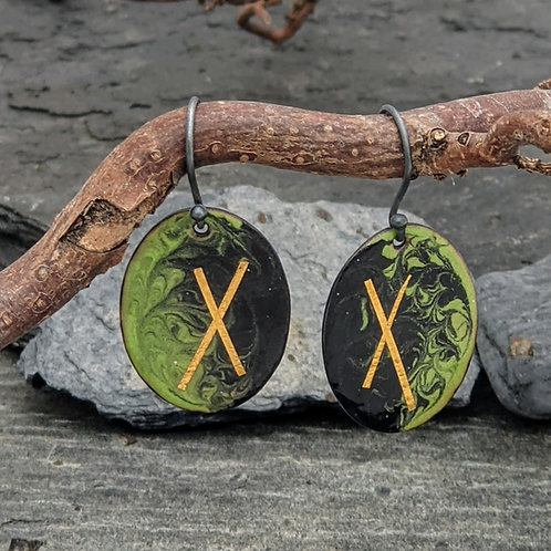 Gill Ross Jewellery    Dawn and Dusk Drop Earrings