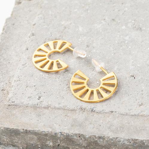 Ornato   Gold Hoop Earrings