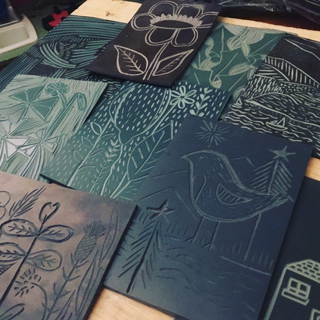 Introduction to Lino Printing with Nicki Bradwell Design