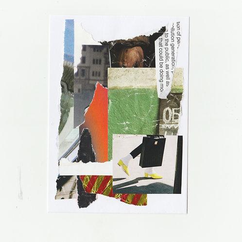 Hi It's NY | Original A6 postcard collage
