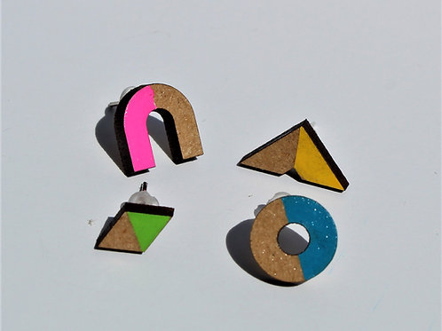 Syrah Jay | Geo Blok Geometric mix & match earrings set 2
