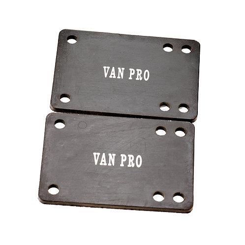 "vanpro Bridge pad 1/8"" Rubber Skateboard Riser Set BLACK, Skateboard Risers for"