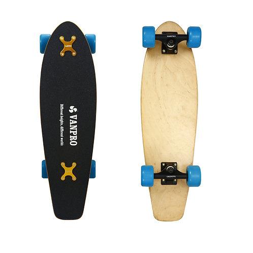 Vanpro 27-Inch Small Fish Plate  Plastic Mini Cruiser Complete Skate Board