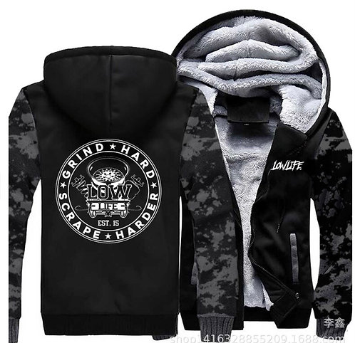 Camo fleece hoodie