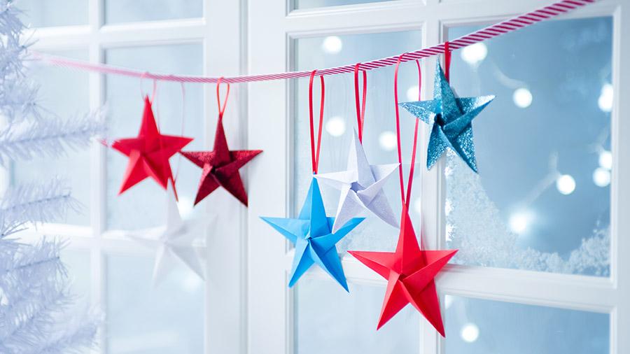 DIY Origami star garland | 506x900