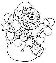 Snowman coloring in