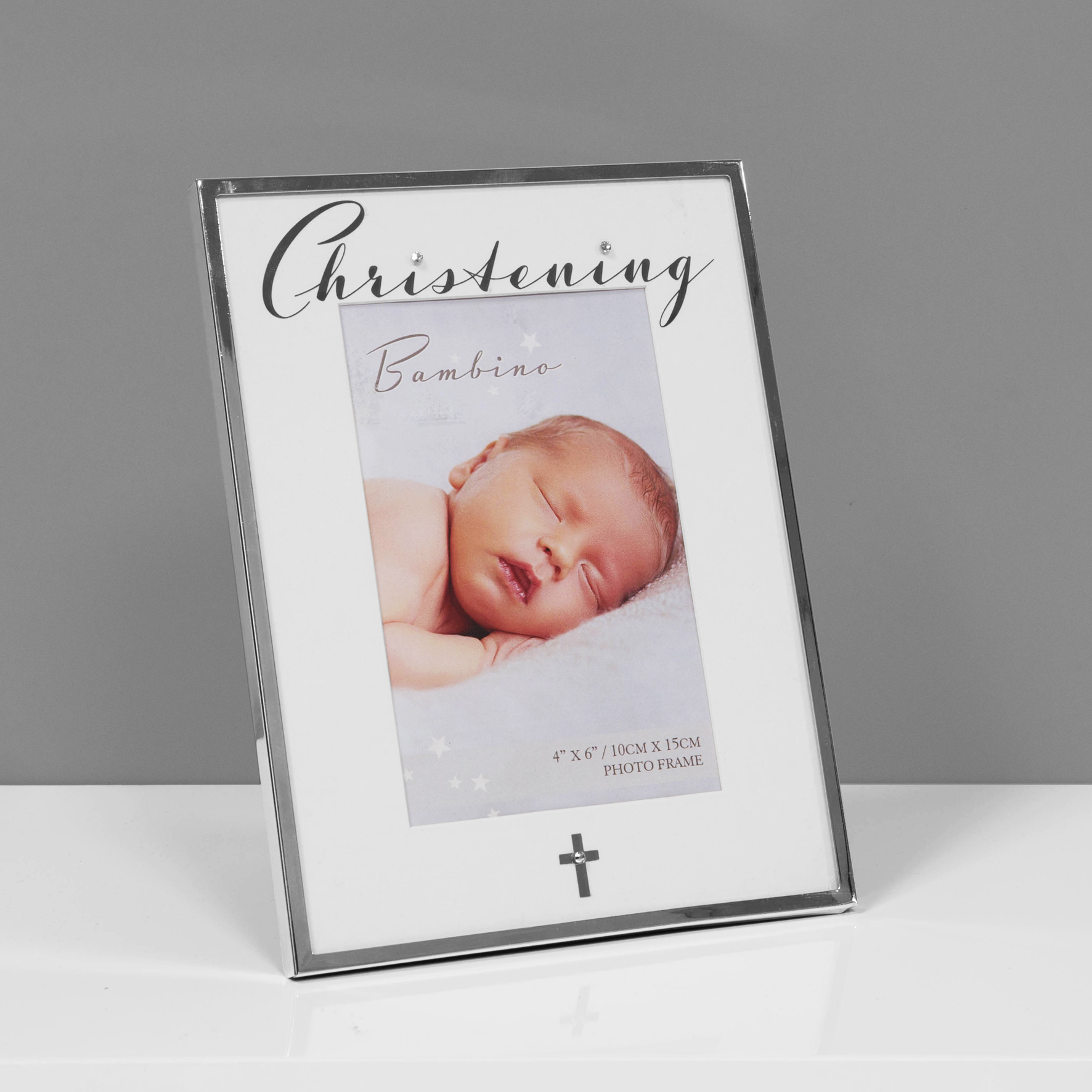 Silver Plated Christening Photo Frame