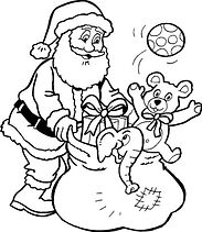 Father Christmas coloring in