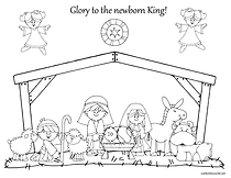 Nativity Colouring Image