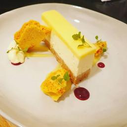 Tonight's lemon cheesecake with honeycom