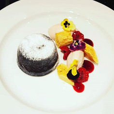 Our Dark Chocolate fondant with honey co