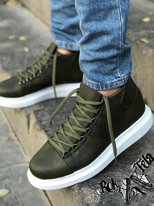 Chekich Military-Green Half Boot