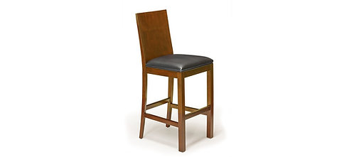 Heritage Wood Back Bar Stool; (set of 2)