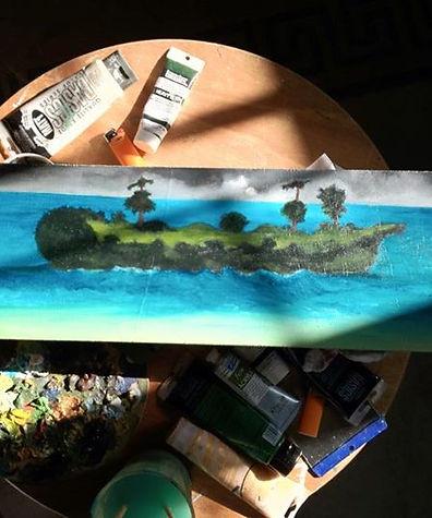 bateau forêt