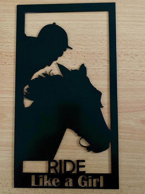 Ride Like a Girl Plaque