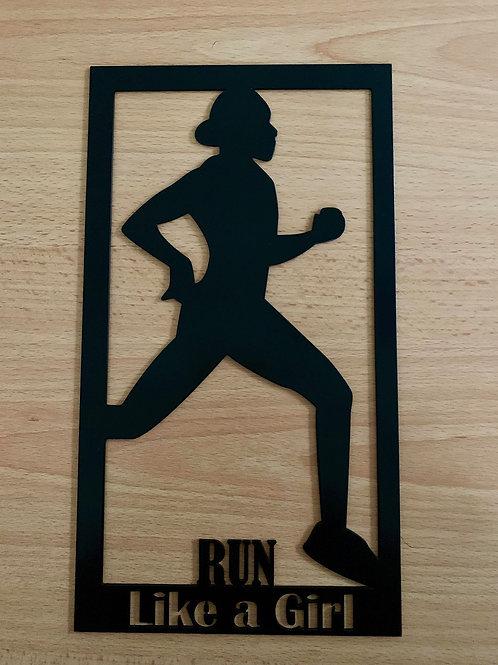 Run Like a Girl Plaque