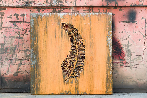 Feather Metal Canvas