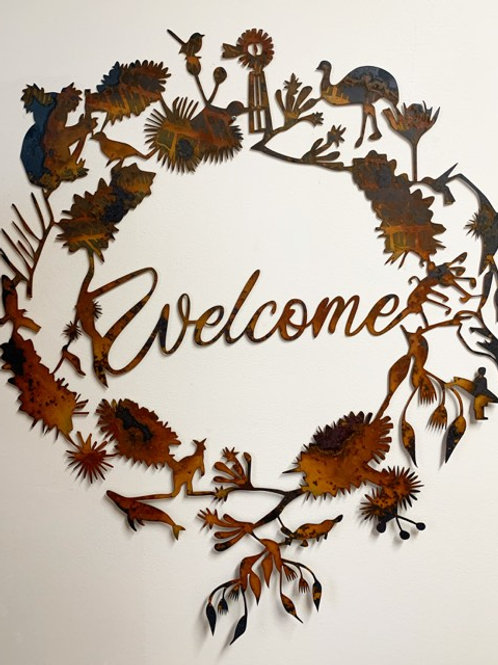 Australiana Welcome Wreath