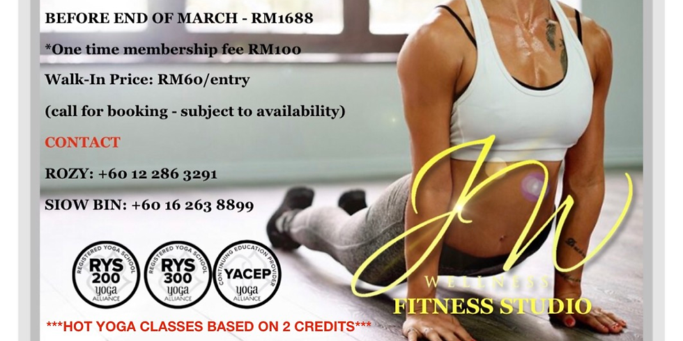 HOT YOGA TRIAL 29th MARCH OPENING