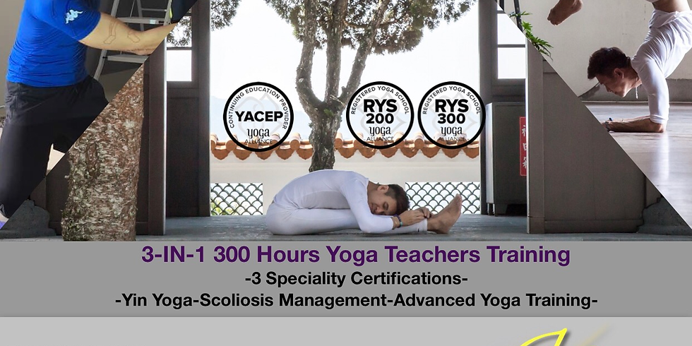 3-in-1 300 Hours Yoga Training
