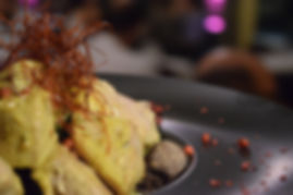 Tuna pan with wild greens, locust bean - Greek food