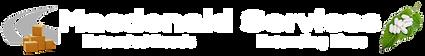 Macdonald Services logo - white text tra