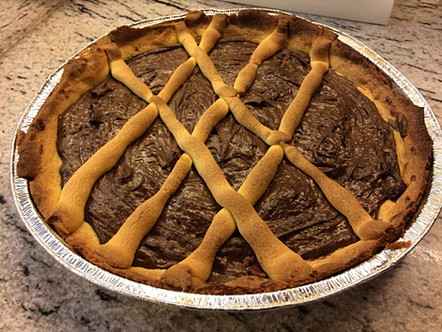 Crostata con crema al gianduia