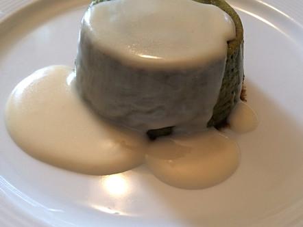 Budino di puntarelle e fonduta di Parmigiano