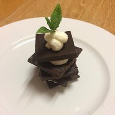 Millefoglie di cioccolato fondente e crema alla menta