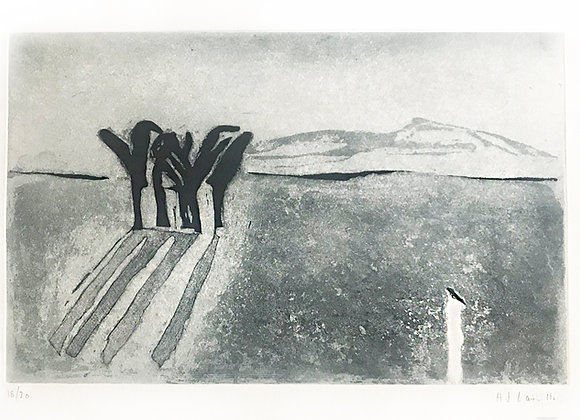 Joy Laville - Paisaje con palmeras