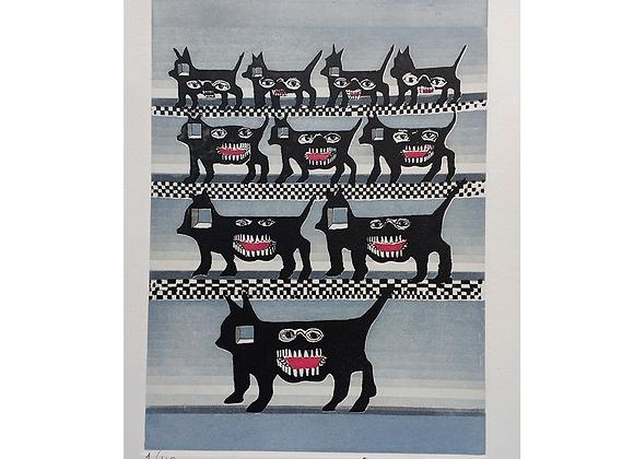 Pedro Friedeberg - Gato perro