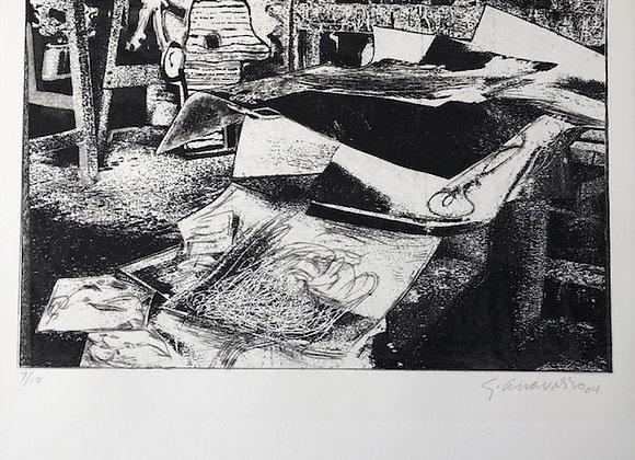 Gilberto Aceves Navarro - Estudio del pintor