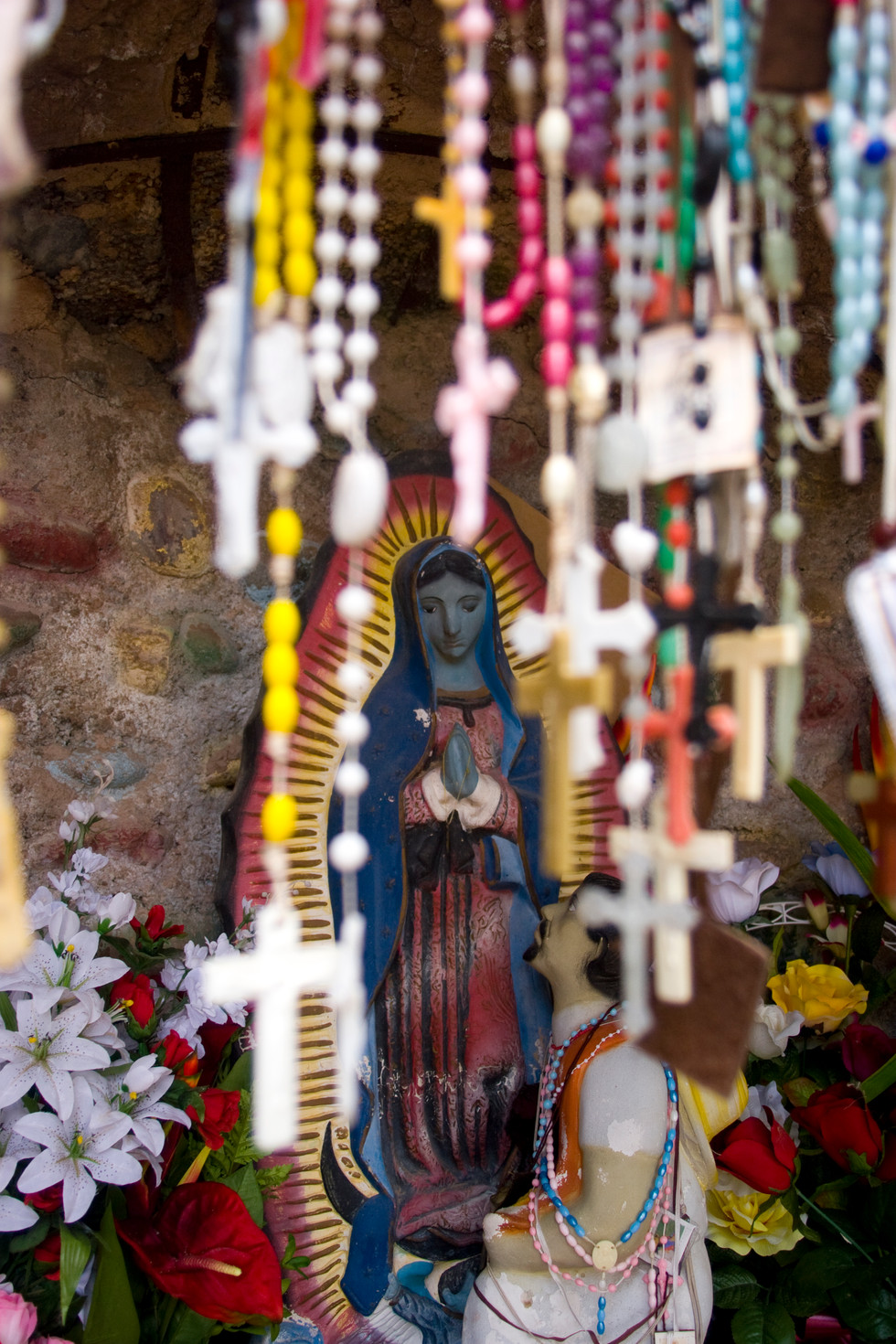 Mary With Rosaries