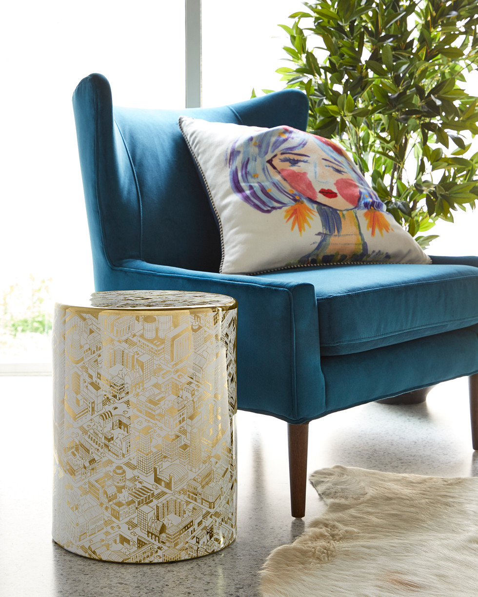 Blue Velvet Chair