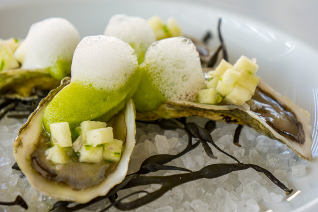 Apple Foam Oysters