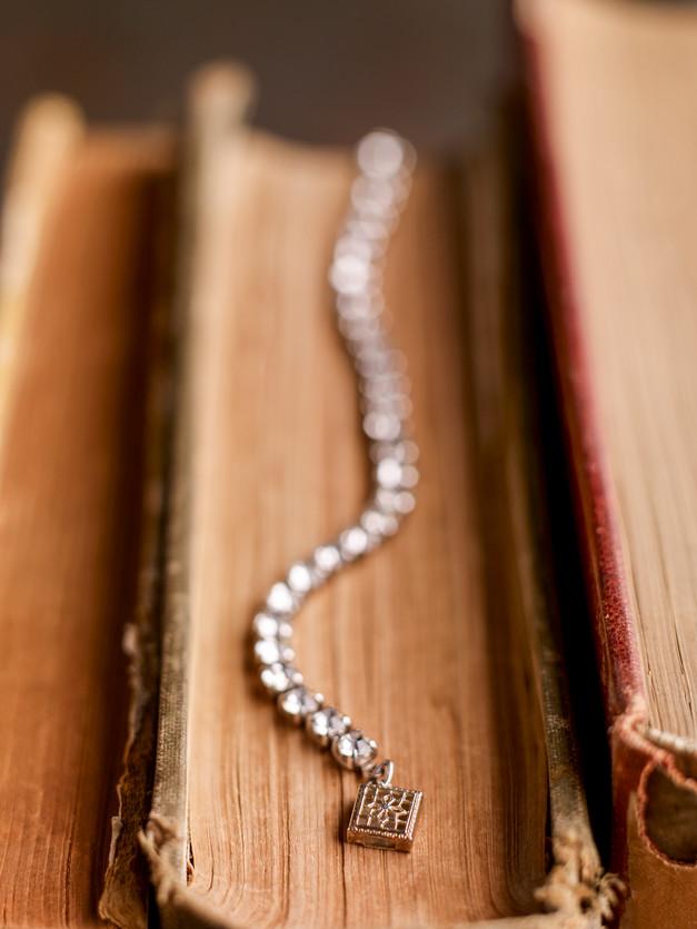 Antique Bracelet On Book