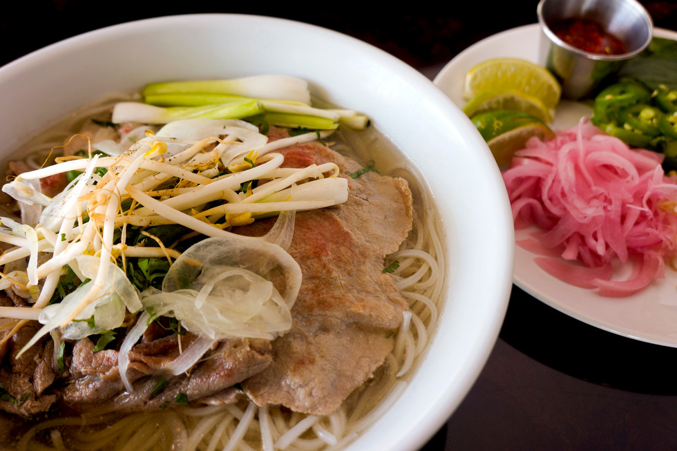 Beef Pho with Condiments