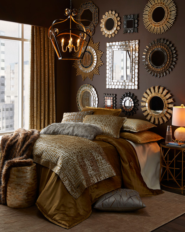 Gold Mirrored Bedroom