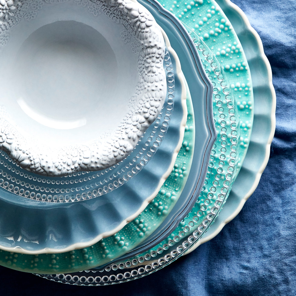 Shades Of Blue Dishes