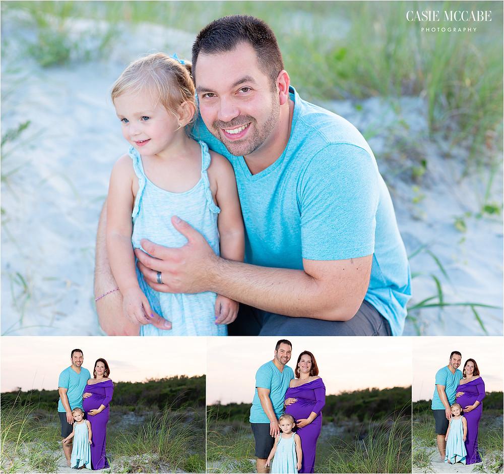 Maternity, Purple Dress, Myrtle Beach, SC, Family Photographer