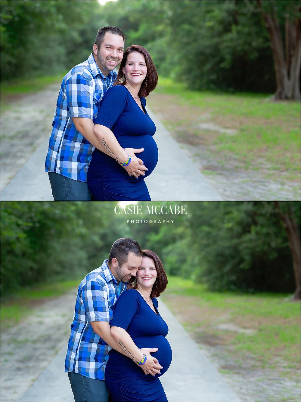 Maternity, Navy Dress, Myrtle Beach, SC, Family Photographer